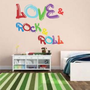 Sticker perete Love Rock & Roll