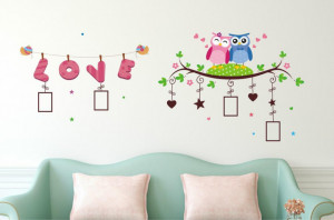 Sticker perete Memories Owl - Love