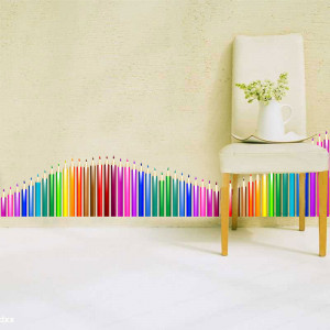 Sticker perete creioane colorate 3