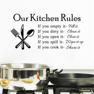 Sticker perete Our Kitchen Rules