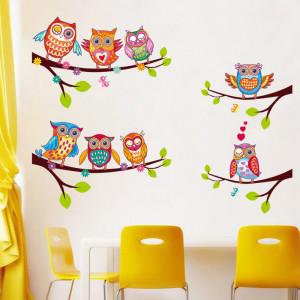 Sticker perete Owl Family
