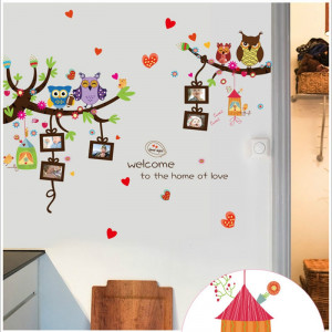 Sticker perete Owl Tree