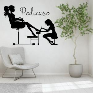 Sticker perete Pedicure 2