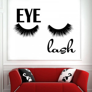 Sticker perete Salon Eyelashes 6