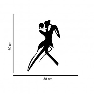 Sticker perete Silueta dansatori tango
