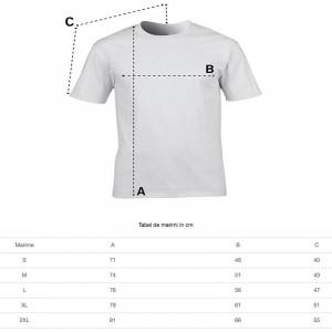 Tricou personalizat barbati alb Stai Acasa
