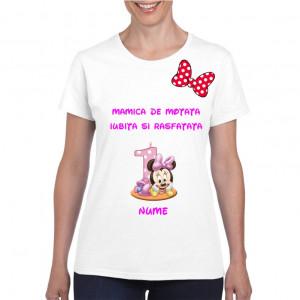 Tricou personalizat dama alb Mamica de Motata Iubita si Rasfatata