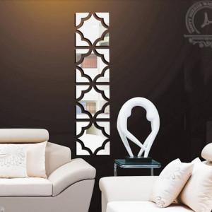 Creative 3D Mirror 18x18 (4buc) Silver