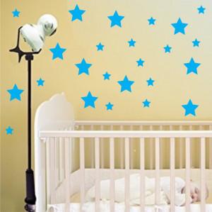 Set stickere perete Stelute Albastre