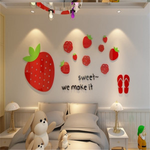 Sticker acrilic 3D Strawberry 67x160cm