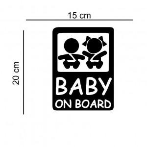 Sticker auto Babies on Board
