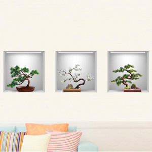 Sticker perete Bonsai 3D