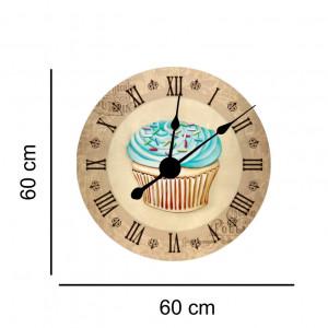 Sticker decorativ ceas vintage cu briosa