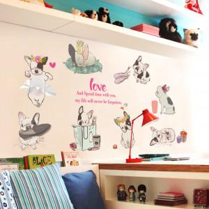 Sticker decorativ Pug Mania 50x70cm