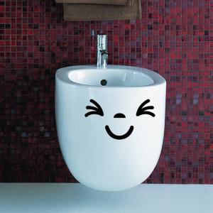 Sticker decorativ Smiling Face 3 12x20cm