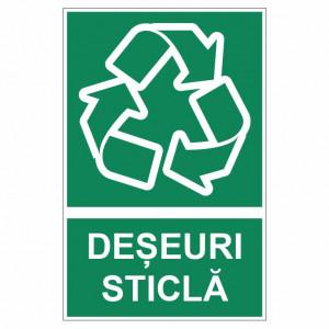 Sticker indicator Deseuri sticla