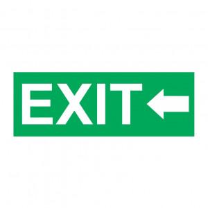 Sticker Indicator Exit la Stanga