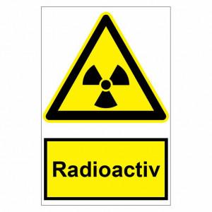 Sticker indicator Radioactiv