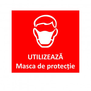 Sticker Indicator Utilizati masca de protectie