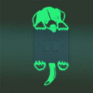 Sticker intrerupator Glow in the Dark Dog