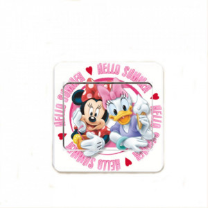 Sticker intrerupator Minnie si Daisy 9x9cm
