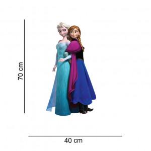 Sticker perete Ana si Elsa Frozen