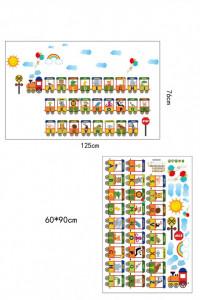 Sticker perete Animals Alphabet Train