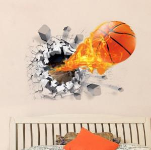 Sticker perete Basket Ball 3D 50 x 70 cm