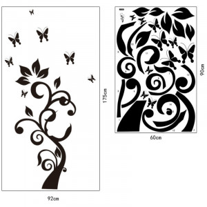 Sticker perete Black Flower Decor 7