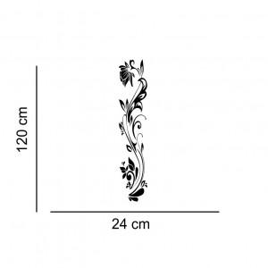 Sticker perete Black Flower Decor 9