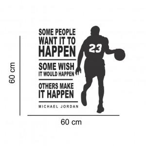 Sticker perete cu mesaj Michael Jordan