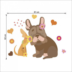 Sticker perete Dog Love