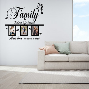 Sticker perete Family Photo Frames (3 rame foto)