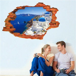 Sticker perete Greece 3D 60 x 90 cm