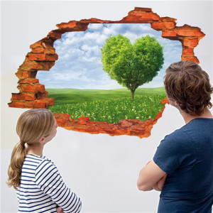 Sticker perete Love 3D 60 x 90 cm