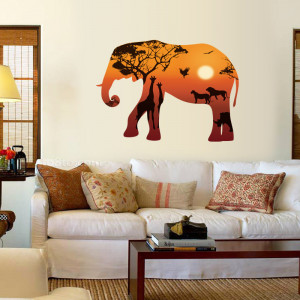 Sticker perete Magical Elephant 60x90 cm