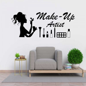 Sticker perete Make Up Artist 2