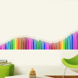 Sticker perete creioane colorate 4