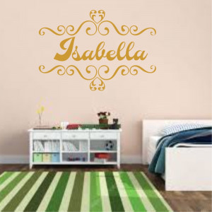Sticker perete personalizat My Name Girl 15