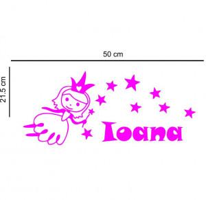 Sticker perete personalizat My Name Girl 2