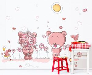 Sticker perete Pink Bears