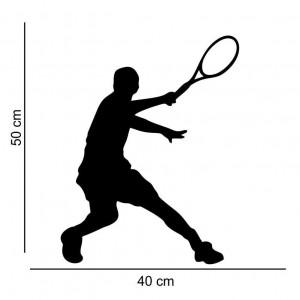 Sticker perete Silueta jucator de tenis