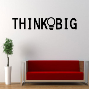 Sticker perete ThinkBig