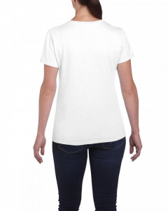 Tricou personalizat dama alb Spala-te pe maini S