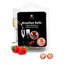 Conjunto De 2 Bolas Brasileiras Morangos Com Cava