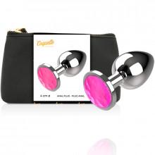 Coquette Anal Plug Metal Pink Color Size L 4 X 9Cm