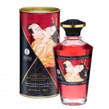 Óleo Massagem Afrodisiaco Shunga Espumante de Morango 100 ml