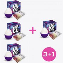 Pack 3+1 Spidey Huevo Masturbador Elástico Silicona Púrpura