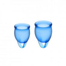 Satisfyer Sinta-Se Confiante Cup Menstrual Escuro Azul 15 + 20Ml