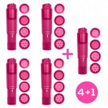 Pack 4+1 Heady Estimulador con 4 Cabezal Purple